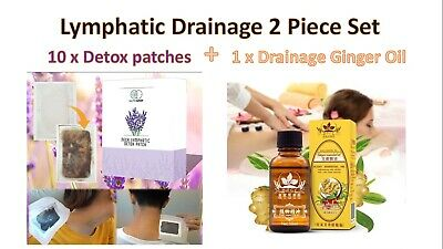 2 Piece Lymphatic Set (10 Nutrispot Neck Patches + Natural Plant Therapy Oil (UK
