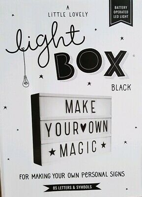 The Little Lovely Company LED Light Box Message Board Box RRP £35