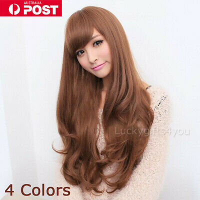 New Style Fashion Sexy Women Girl Wavy Curly Long Hair Full Cosplay Party Wigs H