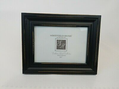Sheffield Home Exclusive Wood Collection 9.5 X 7.5 In Distressed Black Frame