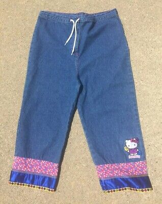 1cd791084 HELLO KITTY BY Sanrio Girls Embellished Denim Jeans Size Small EUC ...