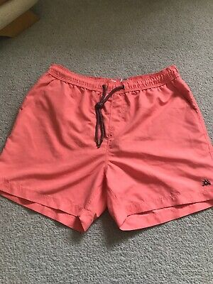 Next Mens Coral Coloured Mens Size M Netted Swimming  Shorts
