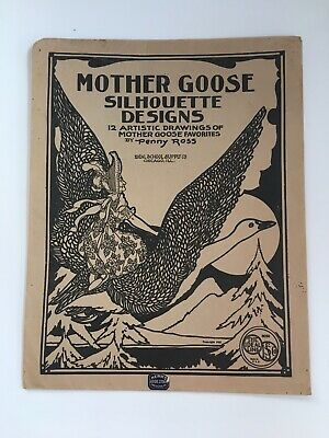 Vintage Mother Goose Children Coloring Pages 1923 Penny Ross Ideal School Supply