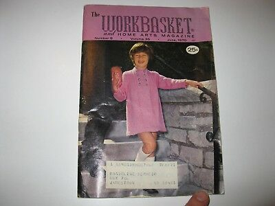 Vintage Workbasket Magazine June 1970 Vol 35 #9 Crochet/Knit/Tat/Macrame