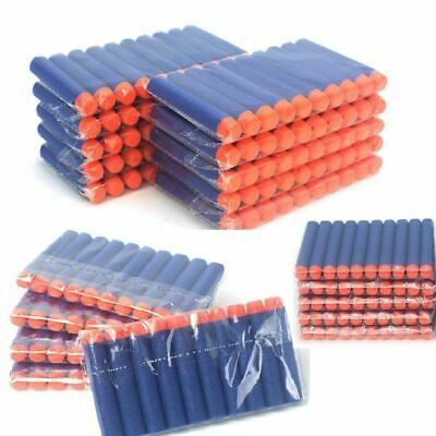 100x GUN SOFT REFILL BULLETS DARTS ROUND HEAD BLASTERS FOR NERF N-STRIKE TOY UK
