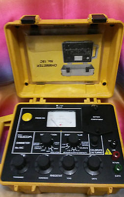 Ohmmeter Bt Type 18C Cable Fault Tester Locator.......... Free  & Fast Postage.