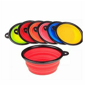 Collapsible Pet Travel Bowl Foldable Dog Compact Feeding Dish Silicone Light Wei