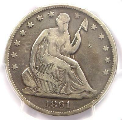 1861-O CSA Obverse Seated Liberty Half Dollar 50C FS-401 - PCGS Fine Details!