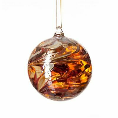 Glass Mouth Blown Friendship Balls Globes With Gift Box Amelia Art Glass 8 Cms