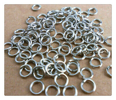 DIY 500PCS Rings Making Jewelry Findings Stainless Steel Opening Jump 3MM-9MM