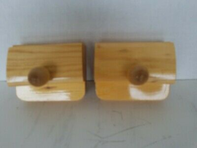 1 Pair Wood Hang-Ups Quilt Clamps Clips