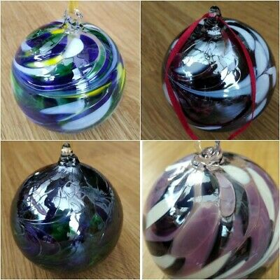 Glass Mouth Blown Friendship Ball Globes  With Gift Box Amelia Art Glass 8 Cms