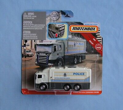 2019 Matchbox  Working Rigs Scania Tactical Command Center POLICE  Low Int Ship