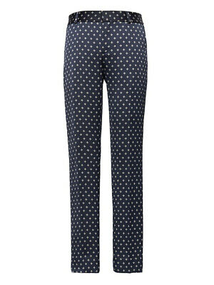 342b1c792da1 Banana Republic Womens Avery Straight-Fit Ankle Print Pant 14 Navy Combo  $98 New