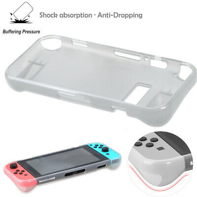 for Nintendo Switch Shock-Absorption Soft TPU Case Cover +Protective Film Set AA