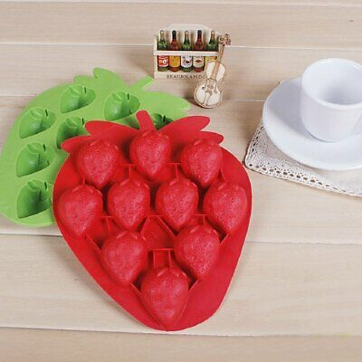 3D Silicone Strawberry Cake Mold Chocolate Sugar Craft Bake Mold Tool Cake Decor