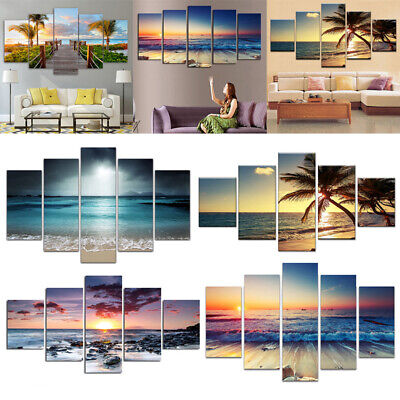 5Pcs/set Frameless Canvas Picture Photo Modern Style Home Wall Art Decor Mural