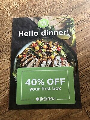 Hello Fresh 40% Off Voucher / Gift Card Food Recipes