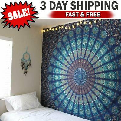 Wall Hanging Hippie Mandala Tapestry Bohemian Indian Ethnic Dorm Decor Bedspread