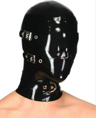 Latexmaske  LATEXTIL Latex Gummi Rubber Mask Black Hood mask Party