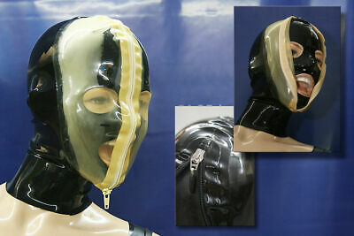Latexmaske  LATEXTIL Latex Gummi Rubber Mask Masquerade Hood mask Party