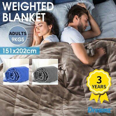 Dreamz Weighted Blanket Queen Size Deep Relax Sleeping Gravity Heavy Adults