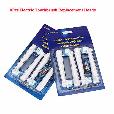 8pcs Electric Toothbrush Replacement Heads For Oral B Braun Models Series SP