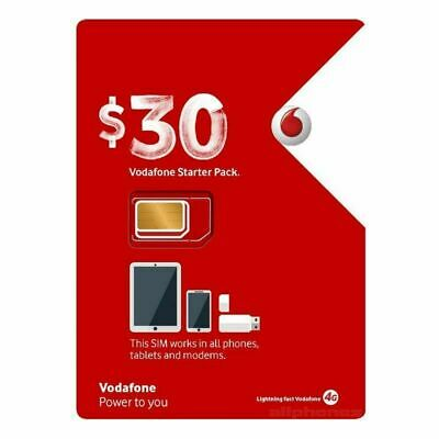 Vodafone $30 *Buy 4 get 1 free* Prepaid Sim Unlimited Calls & Text