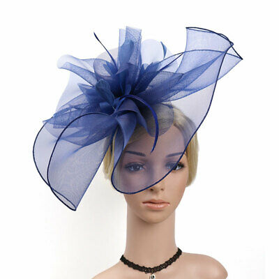 Elegance Fascinators Feather Hat Clip Wedding Party Derby Race Hair Headpieces