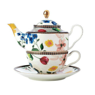 Maxwell & Williams Teas & C's 380ml Tea Pot for One w/ Infuser/Cup/Saucer White