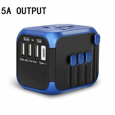 Nocalen Upgraded International Universal Travel Adapter with Self-Reset Fuse