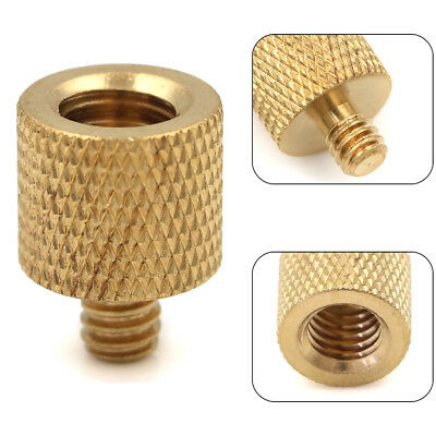 1Pc Tripod Camera Thread Screw Adapter 3/8 To 1/4 Female Male Converter Brass ra
