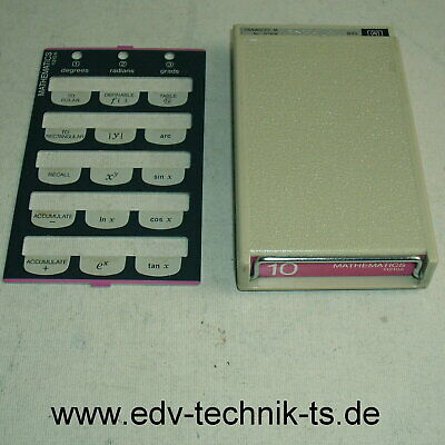 HP 11210A Mathematics cassette memory + template for HP 9810A, Top condition!