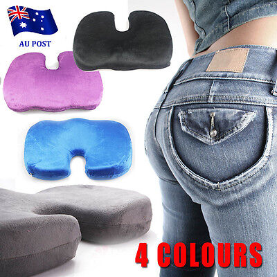 Memory Foam Coccyx Cushion Posture Back Hip Support Lumbar for Car Seat Office D