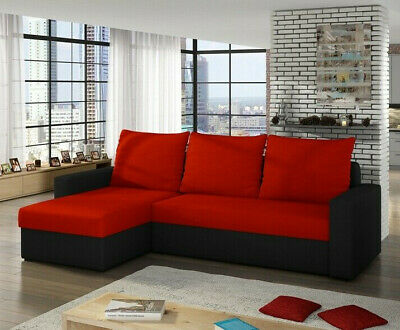 Corner Sofa Bed LIWIO with Storage Container Universal Corner Side New