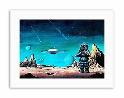 ROBBY ROBOT FORBIDDEN PLANET SPACE STARS SCI FI USA Poster Picture Painting