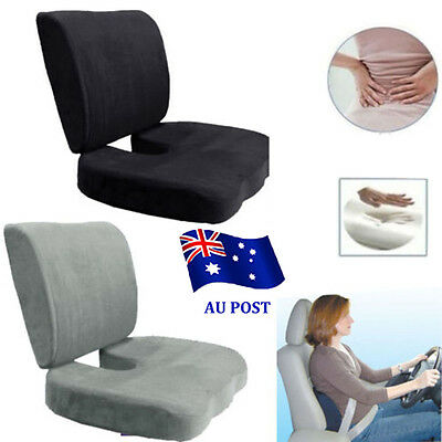 Memory Foam Coccyx Orthoped Seat Cushion Back Support Lumbar Relief Pillow DM