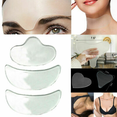 Reusable Anti Wrinkle Chest Neck Eye Face Pad Silicone Removal Patch Skin Care D
