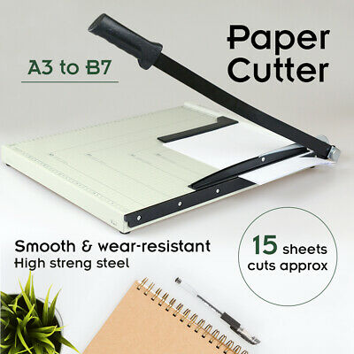 Metal Base Paper Cutter Size A3 To B7 Guillotine Page Trimmer 15 Sheets Knife AU