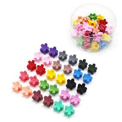 30 x Kids Baby Girls Candy Colour Hairpins Mini Claw Hair Clips Clamp Flower Lot