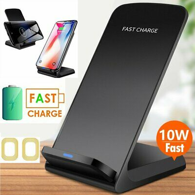For Samsung Galaxy S10 Plus S9 S8 Note 9 8 S10E S7 Qi Fast Wireless Charger Pad