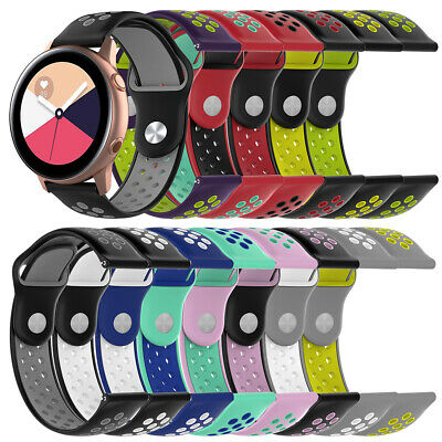 Silicone Double Color Watch For Samsung Galaxy Watch Active 2019 SM-R500