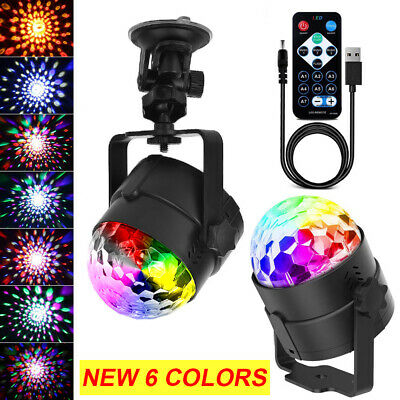 Disco Ball Light Portable DJ Lights 6 Colors Led Stage Lights for Bar Club Party