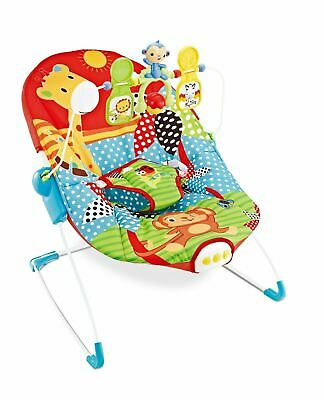 Baby Rocker Sunrise Safari Animal Bouncer Chair With Vibrations & Soothing Music