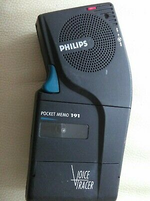 PHILIPS POCKET MEMO 191 Voice Tracer DICTAPHONE Record
