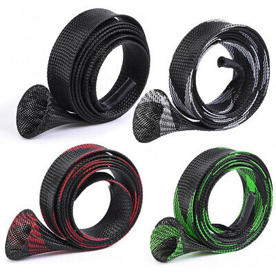 170cm×35mm Fishing Rod Braided Mesh Cover Expandable Pole Sleeves Durable