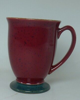 DENBY china HARLEQUIN Original England patten Mug - Blue Red - Green Foot 4-1/4""