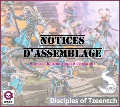 Citadel Chaos Tzeentch Notices Assemblage Booklet Instructions Warhammer Aos 40K