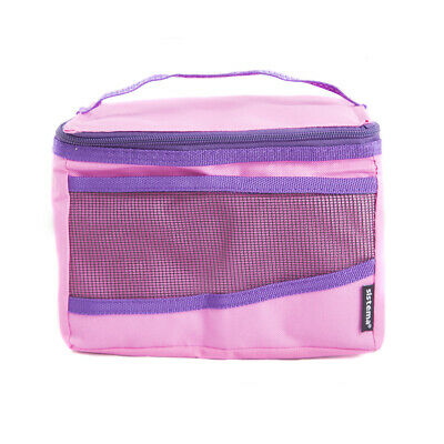 Sistema Maxi Pink Fold Up Insulated Cooler Lunch Bag Kids School Snack Picnic