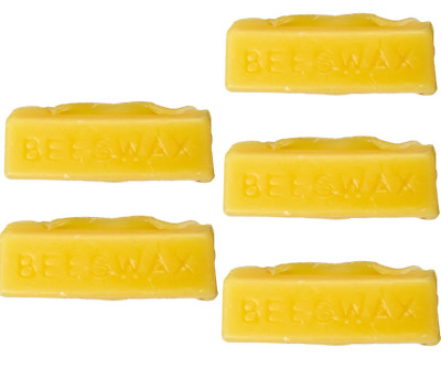 Beeswax 100% Organic N Hand Poured Triple Filtered Beeswax Cosmetic Grade 5 Bars